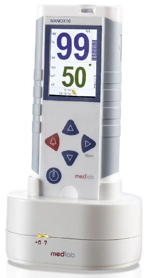 NANOX10C Pulse Oximeter with Charger from Medlab