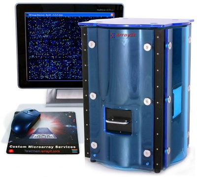 SpotLight Two-Color Microarray Fluorescence Scanners from Arrayit