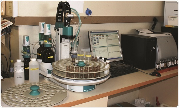 Instrumentation setup for the automatic determination of fluoride content in the blood sample
