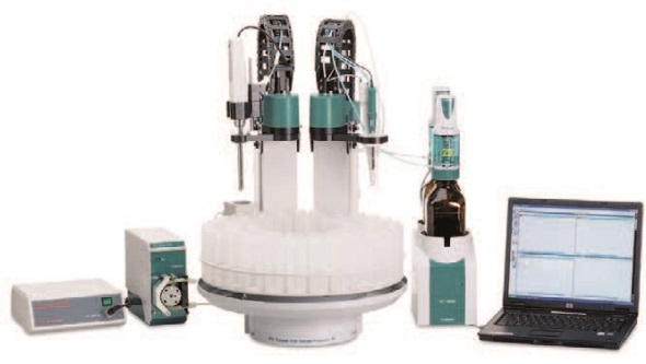 The 815 Robotic Titration Soliprep with built-in high-frequency homogenizer processes your samples fully automatically and analyzes them by titration.