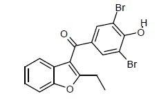 (3,5-dibromo-4-hydroxyphenyl)-2-ethyl-1-benzofuran-3-yl)methanon