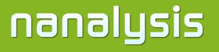 Nanalysis Corp. logo.