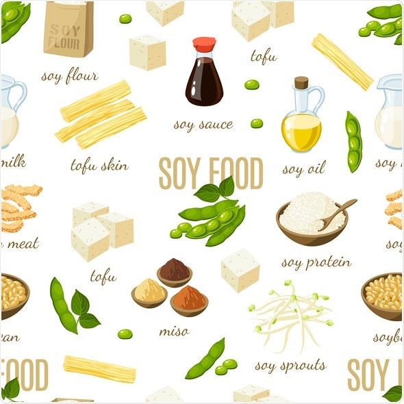 Soy foods - soy milk, soy sauce, soy meat, tofu, miso