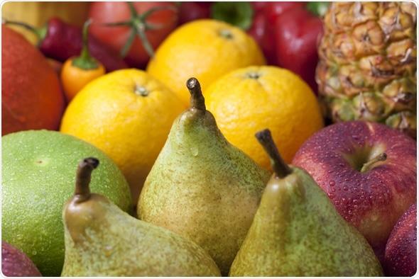Frutos misturados - maçãs das peras