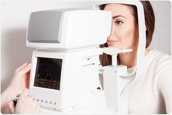 Patient in ophthalmology clinic - Image Copyright: Stas Ponomarencko / Shutterstock