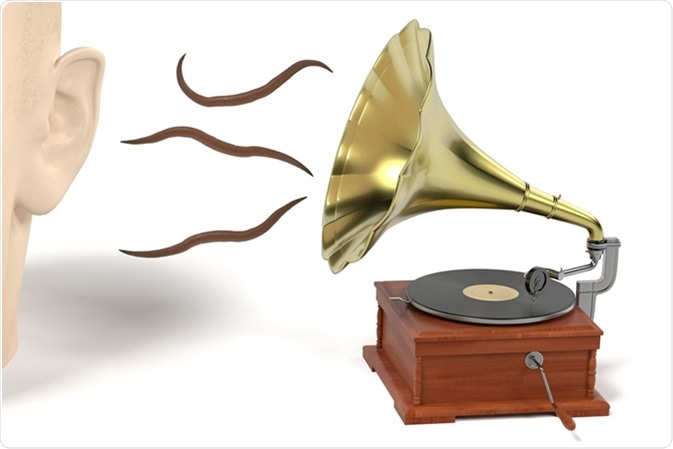 Earworm - tornillo sin fin musical. Haber de imagen: 3drenderings/Shutterstock