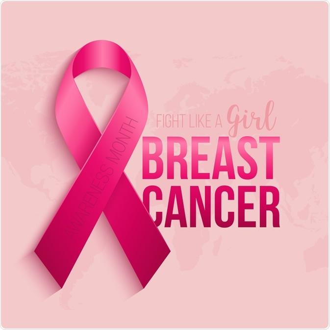 Breast cancer awareness ribbon background. October is month of breast cancer awareness in the world. Pink ribbon. Vector illustration - Image Credit: Vitalex / Shutterstock