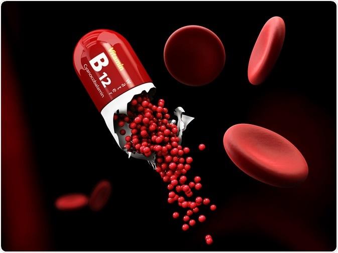3d Illustration of Vitamin B12 Capsule