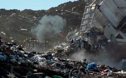 Mercury leaches out of the waste at landfills and can seep into the ground and into ground water.