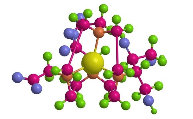 Molecular structure of Gadobutrol (Gadovist) - gadolinium containing MRI contrast agent.