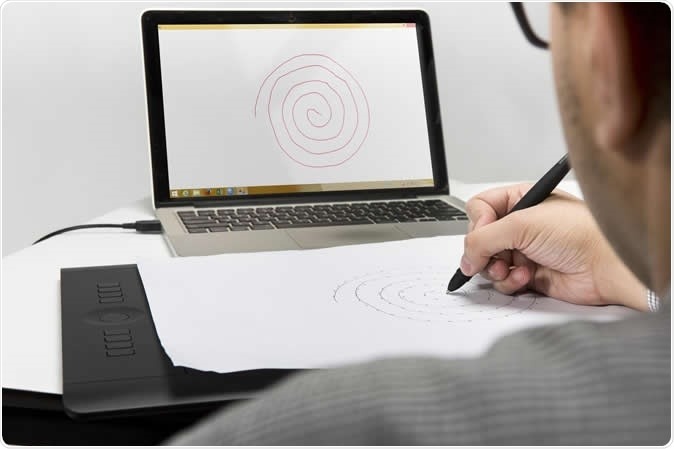 Researchers developed specialized software and combined it with a tablet computer that can measure writing speed, and a pen that can measure pressure on a page. They used the system to measure pen speed and pressure during a simple spiral sketching task in a sample of healthy volunteers and Parkinson