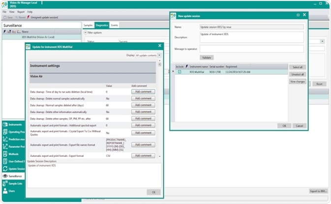 Report view in Vision Air