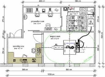 Example floor plan for a BioSpec 94/20 USR MR.