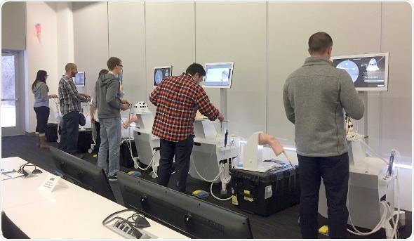 People using medical simulators