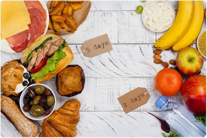 5:2 fasting diet concept. Image Credit: Ekaterina Markelova / Shutterstock