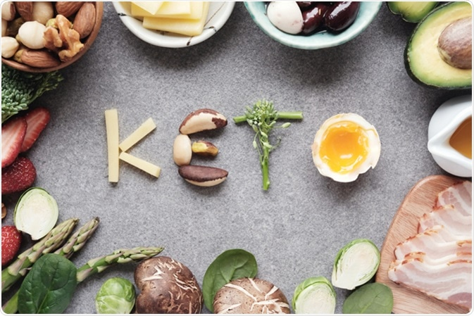 Keto, Ketogenic diet, low carb, healthy food. Image Credit: SewCream / Shutterstock