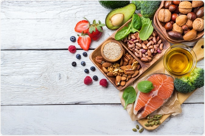 Fruit, veg and fish - healthy foods that can help reduce the risk of cancer - photo taken by Antonina Vlasova