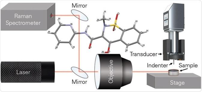 In-situ experimental configuration and piroxicam structure