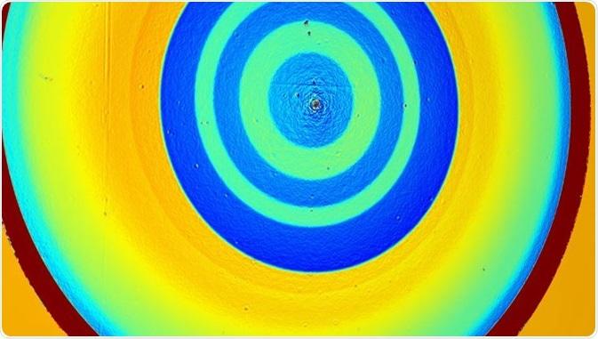 """Phasefocus Lens® virtuale è un metodo novello per la rappresentazione quantitativa e la microscopia di alta fedeltà. È conosciuto nella letteratura scientifica come """"ptychography"""". Credito di immagine: Phasefocus"""