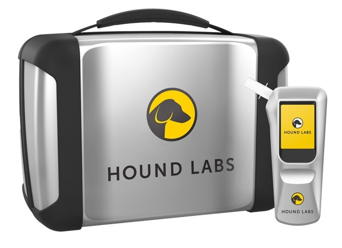 Hound Labs is a scientific research and device company that has developed ultra-sensitive technology for non-invasive breath measurement. The Hound® marijuana breathalyzer is the world's first breathalyzer to rapidly, accurately, and inexpensively measure recent marijuana use and alcohol in a person's breath.