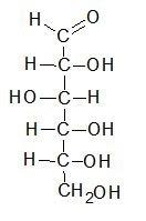 Projecção de Fischer da D-glicose em seu formulário da corrente aberta