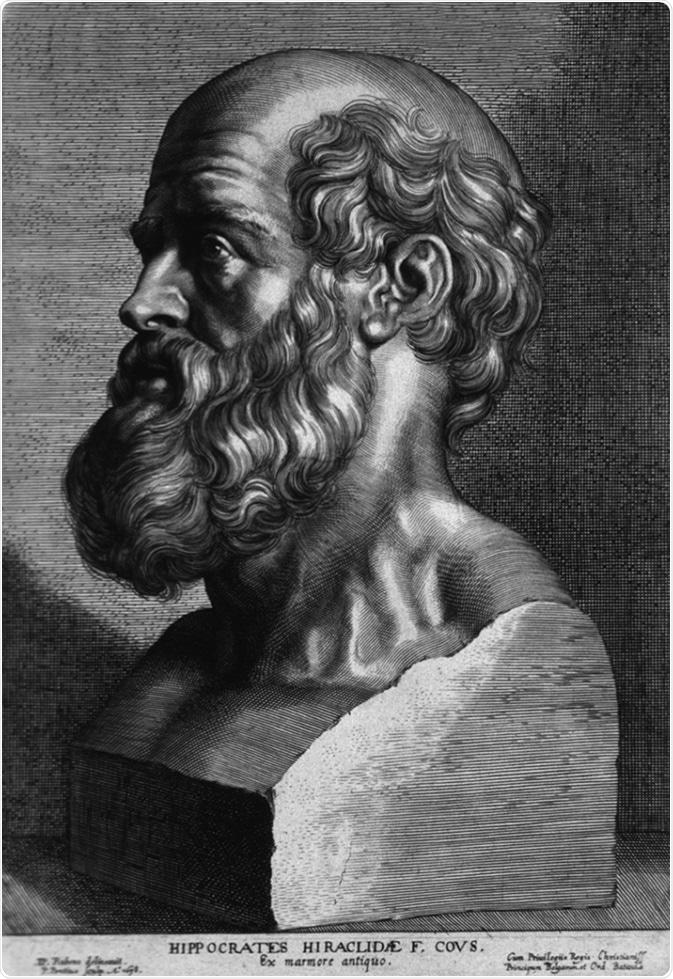 Hippocrates (460-375 BC) sculpture