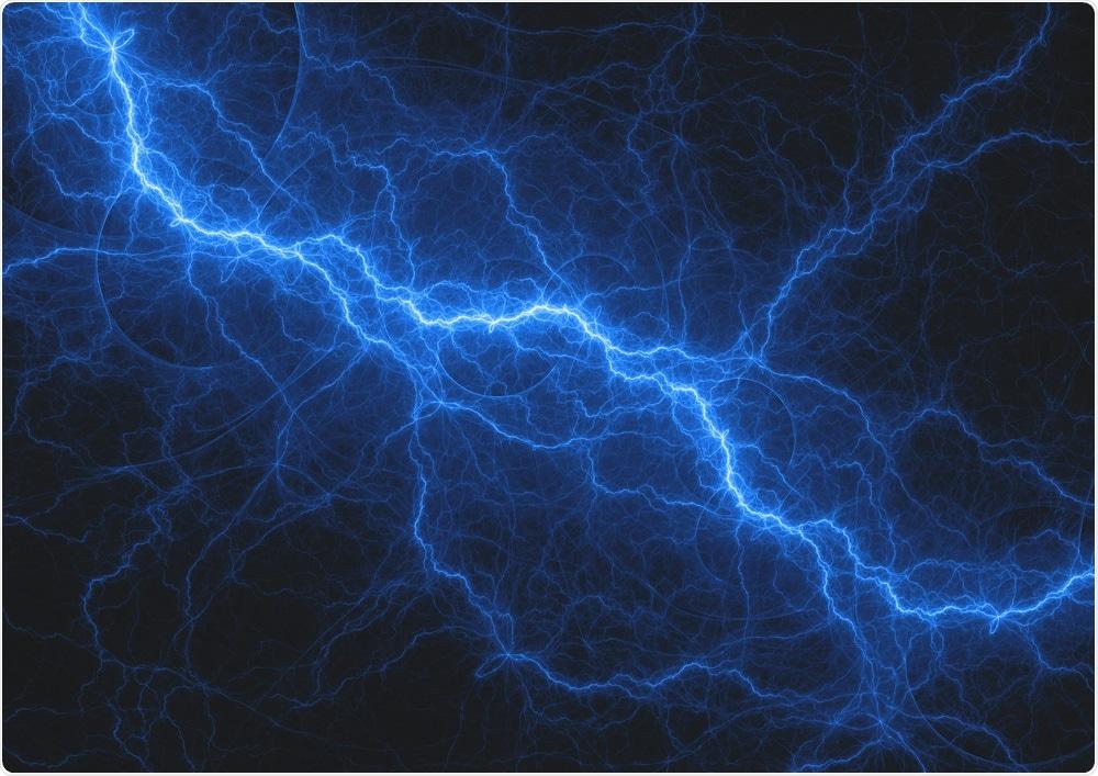 Blue electric bolt