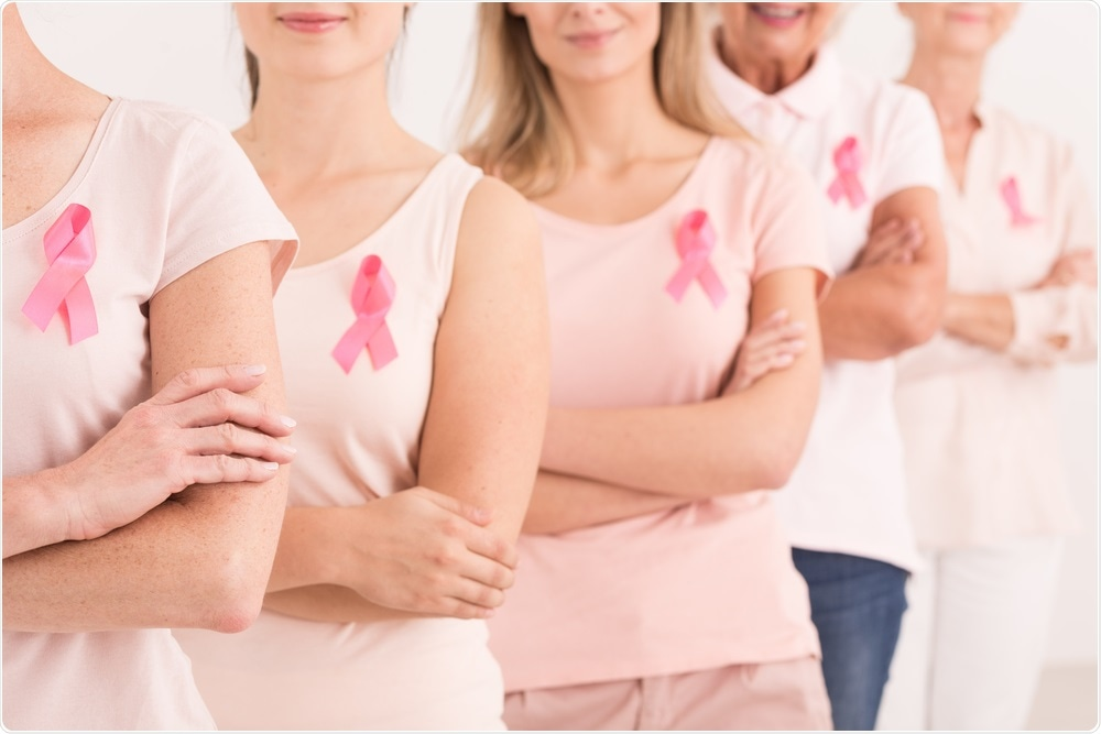 Women standing together in the fight against breast cancer #IAmAndIWill