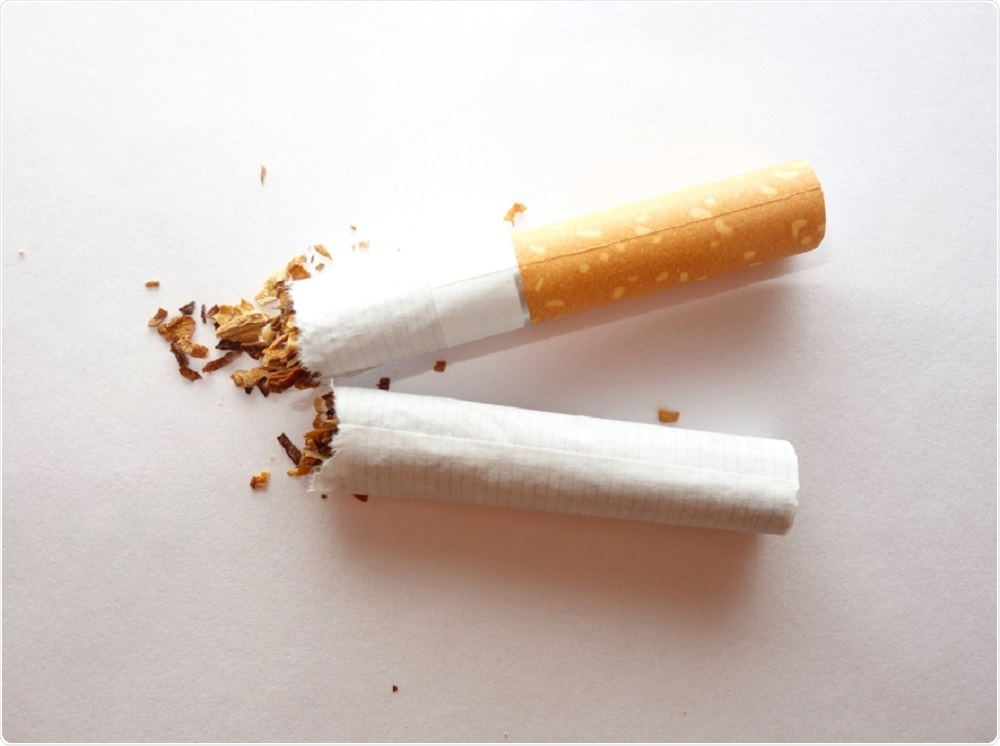 Torn up cigarettes
