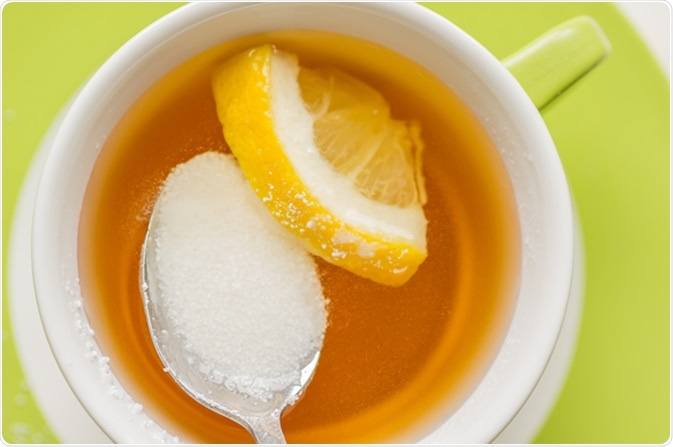 Spoon with sugar substitute, sorbitol. Image Credit: Photosiber/ Shutterstock