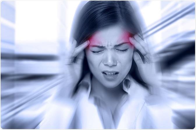 Headache migraine. Credit:Maridav / Shutterstock