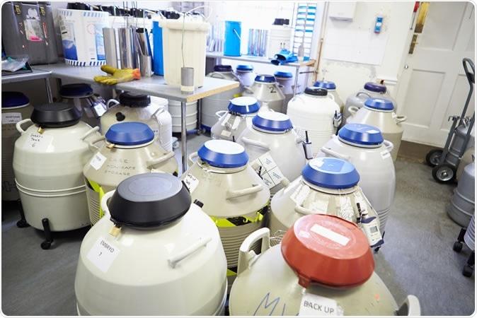 Frozen storage at sperm bank. Image Credit: Monkey Business Images  / Shutterstock