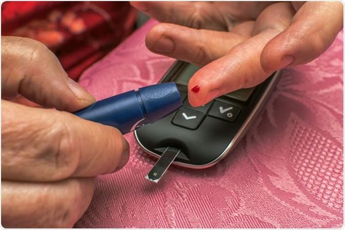 Checking blood sugar level. Image Credit: Malt Digital Agency / Shutterstock