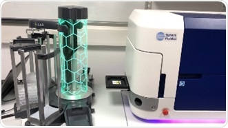 Cyto-Mine® Single Cell Analysis System (right) integrated with S-LAB™ automated plate handler (left).