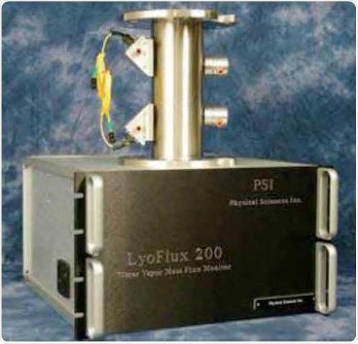 LyoFluxTM : Tunable Diode Laser Absorption Spectroscopy (TDLAS) water Vapor Mass Flow Rate Sensor.
