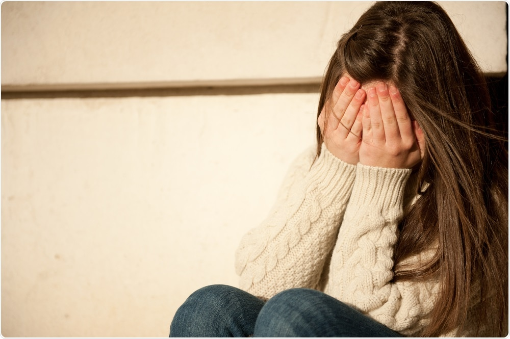 Young girl with PTSD