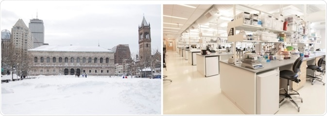 Elemental Machines solution monitors the LabCentral facility during inclement weather. Photos courtesy: David Van Horn licensed via CC and LabCentral © Paul Avis Photography respectively.