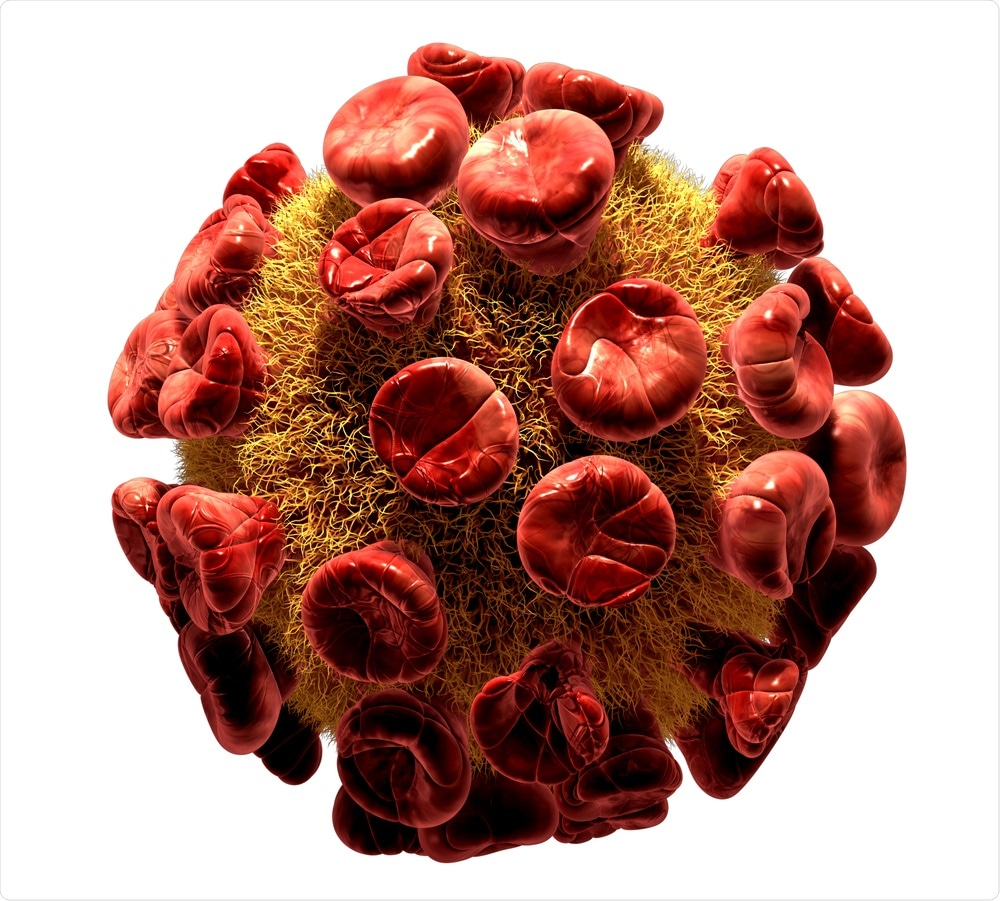 Illustration of HIV virus, one of the most well known retroviruses