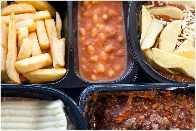 Selection of frozen, processed, ready made food. Image Credit: Yolanta / Shutterstock