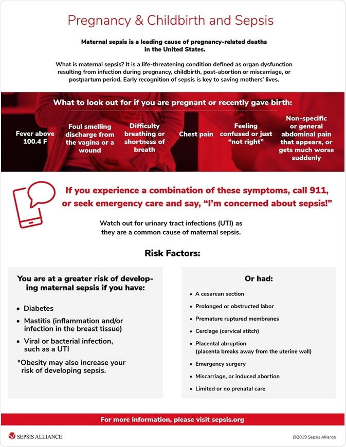 Maternal sepsis fact sheet from sepsis alliance
