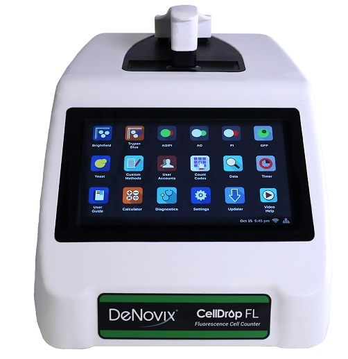 DeNovix granted US patent for CellDrop Automated Cell Counter