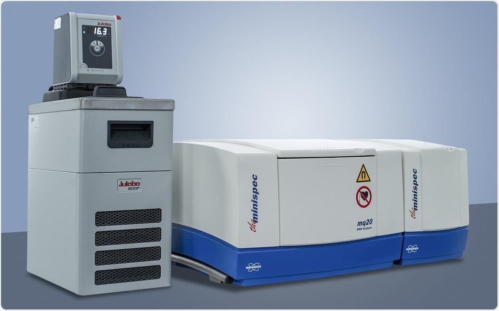 El analizador del minispec® mq20 RMN