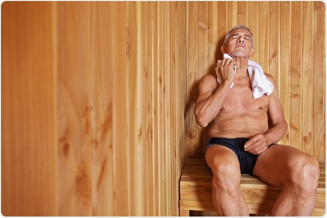 Research shows saunas induce as much physical strain as moderate exercise. Image Credit: Robert Kneschke
