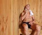 Saunas induce as much physical strain as moderate exercise
