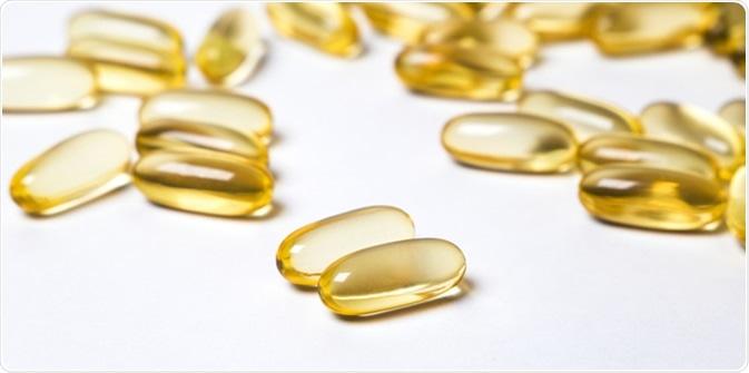 Conjugated linoleic acid (CLA) in capsules. Image Credit: Bulgn / Shutterstock