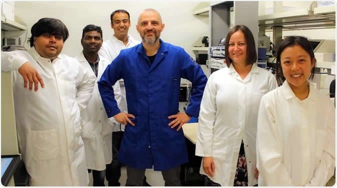 The Navedo lab team is identifying how diabetes increases the risks of serious health conditions such as heart disease and stroke. From left to right are Debapriya Ghosh, Gopireddy Reddy, Arsalan Syed, Manuel Navedo, Madeline Nieves-Cintrón and Thanhmai Lee. Image Credit: UC Regents / UC Davis Health