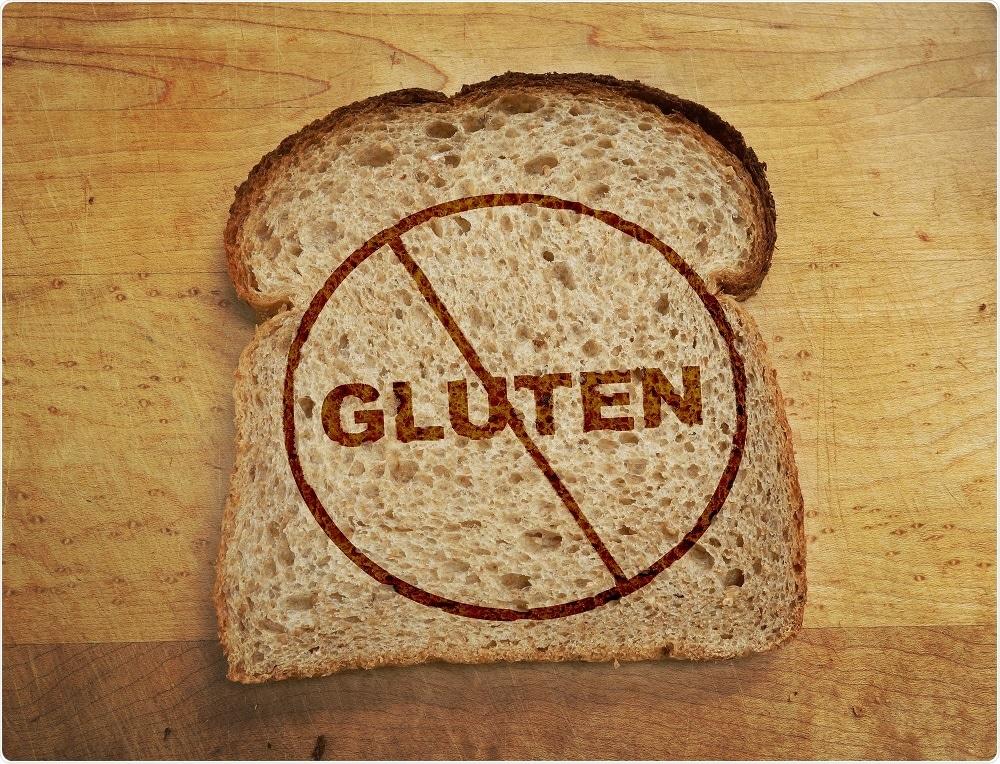 Les patients présentant la maladie coeliaque doivent éviter les nourritures contenant du gluten telles que le pain, qui contient le blé.