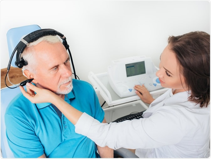 Hearing tests or audiometry. Image Credit: Erica Smit / Shutterstock