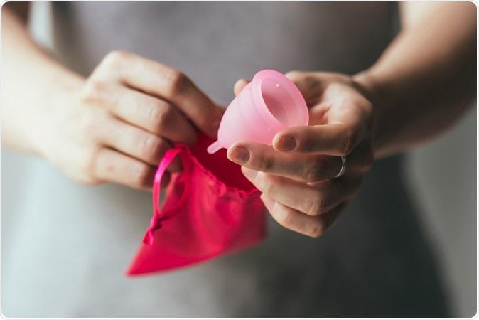 Menstrual cup. Image Credit: Yulia Grigoryeva / Shutterstock