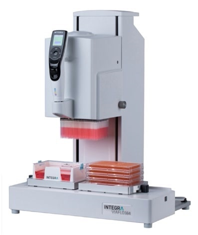 Electronic pipetting system for accurate compound delivery.